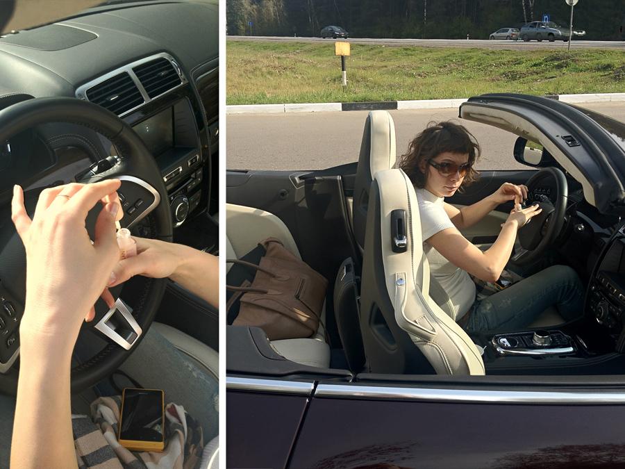 Фото девушек на аву со спины. в машине